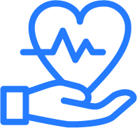 Blue and white CPR symbol