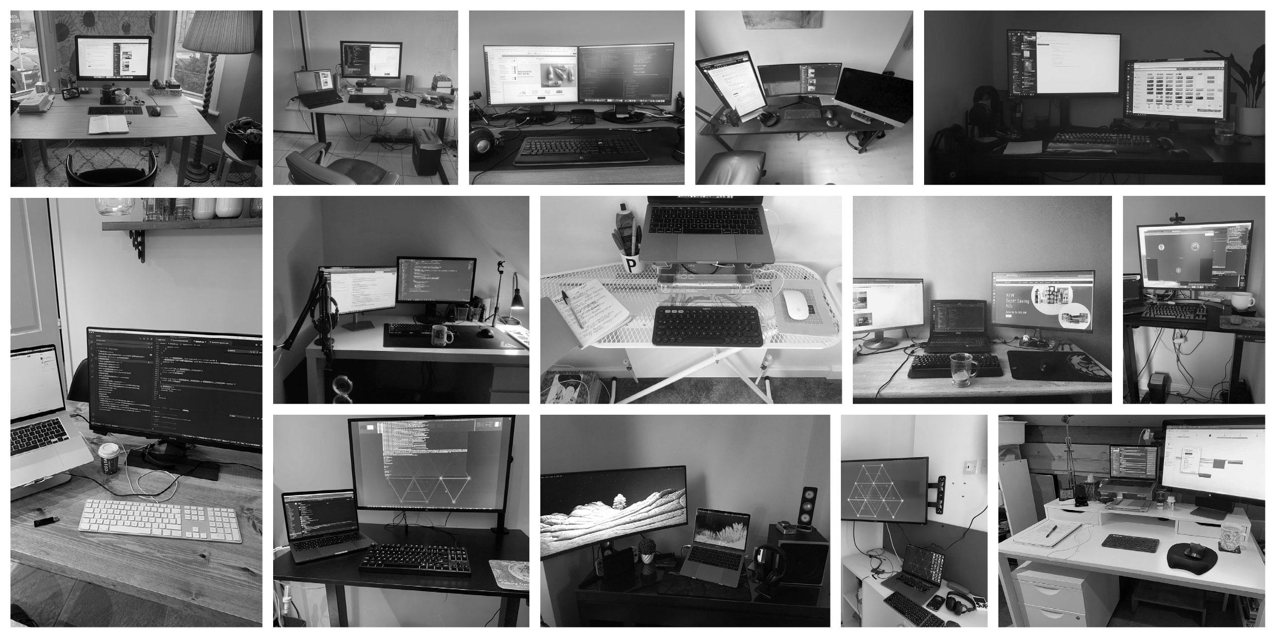 Our desks...