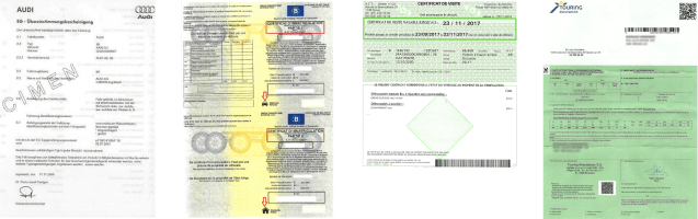 Vehicle documents