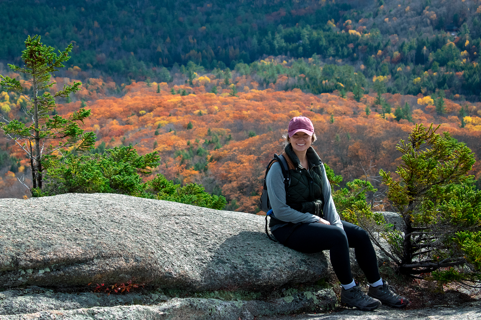 Amanda in the mountains of New Hampshire.