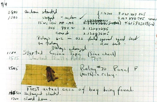The first computer bug, discovered in 1947