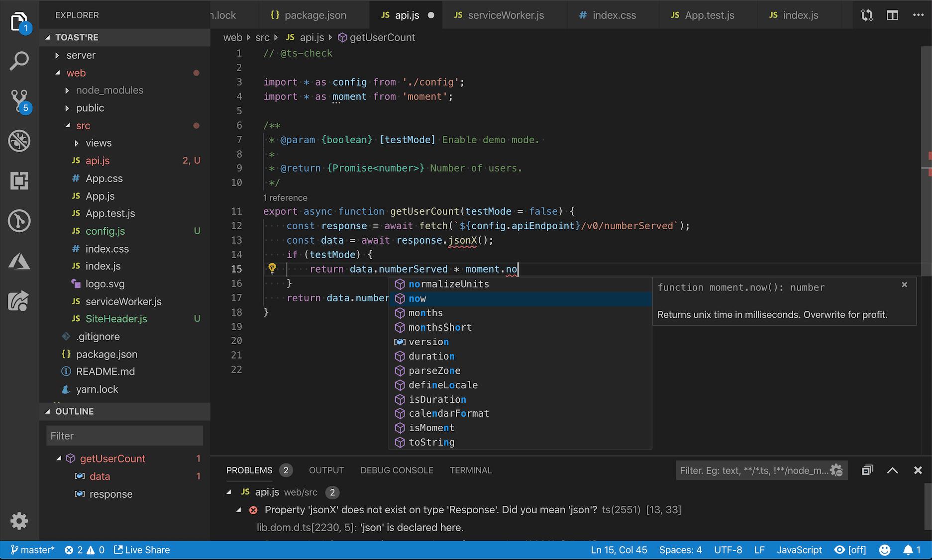 snippets, vs code, typescript