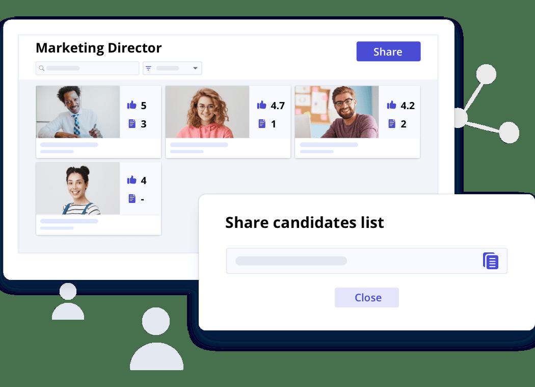 Share candidates list
