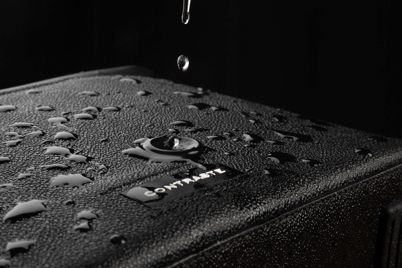 technologie shadow grip contraste paris imperméable étanche sac photo cuir noir toile enduite grain protecteur matière