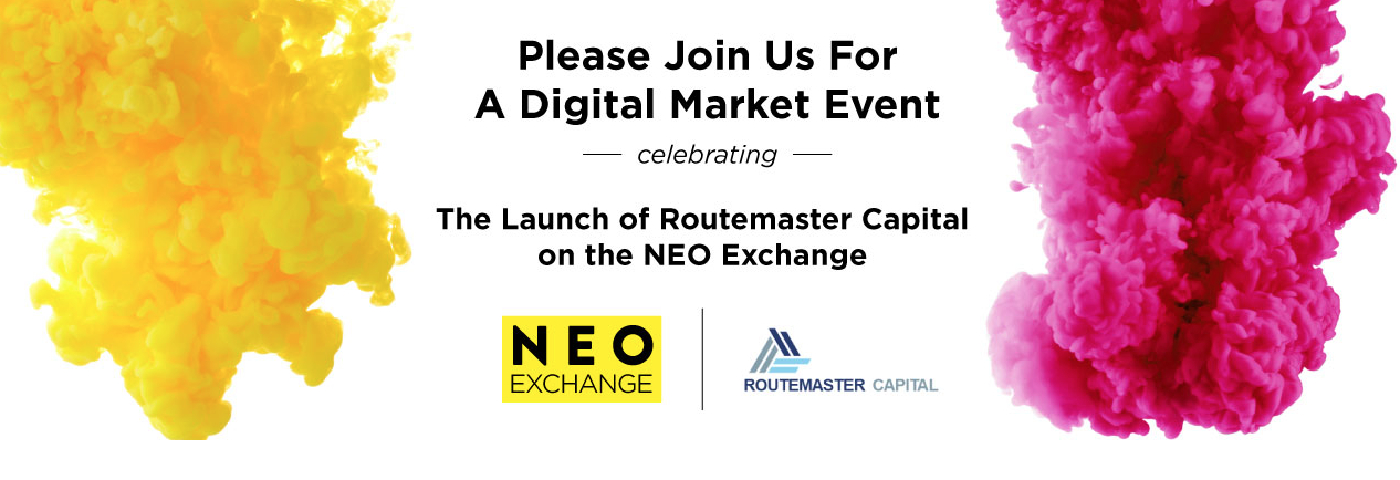 NEO DeFI stock banner invitation