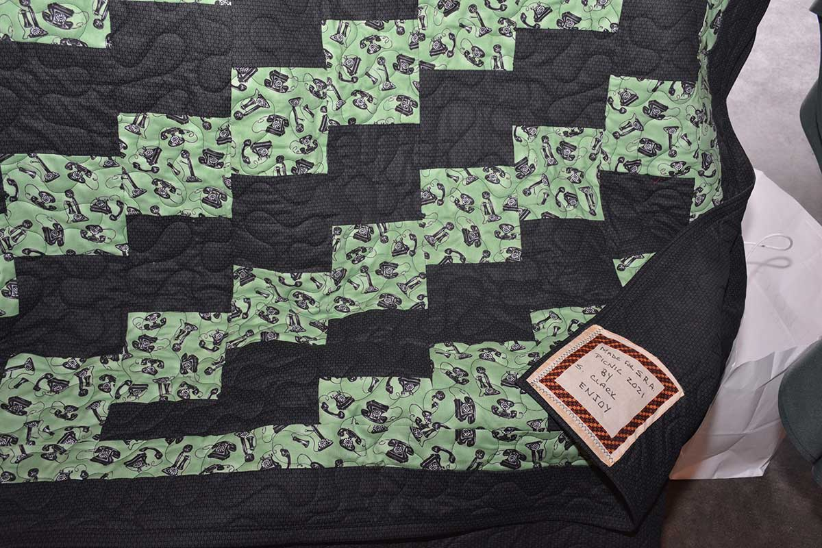 Telephone Themed Quilt Donated