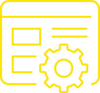 Technology Solutions Icon Yellow