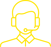Contact Centre Services Icon Yellow