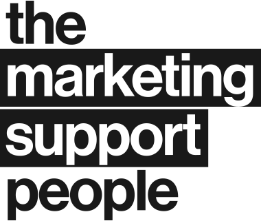 Marketing Support People Logo Grey Stacked