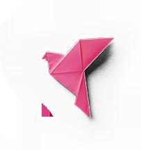 Pink Origami Bird