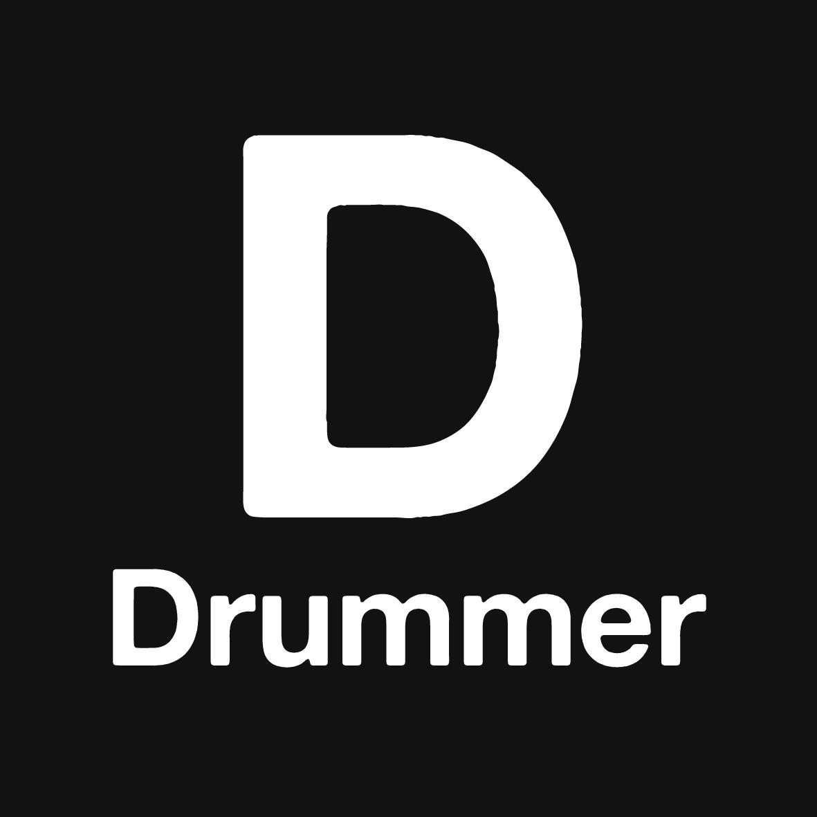 Drummer Logo Black