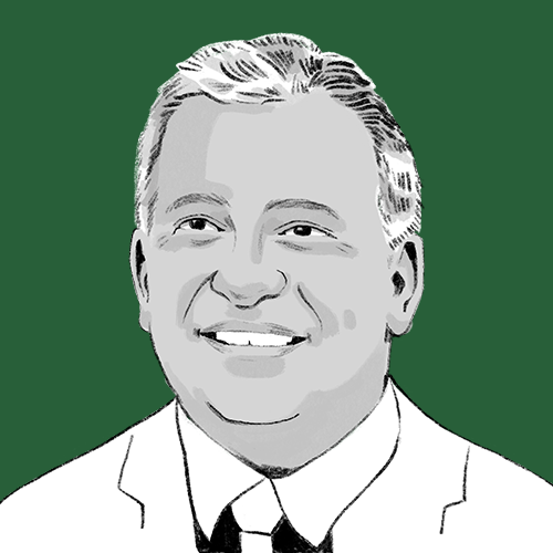 An illustration of our co-founder, Jeff Wiesner.
