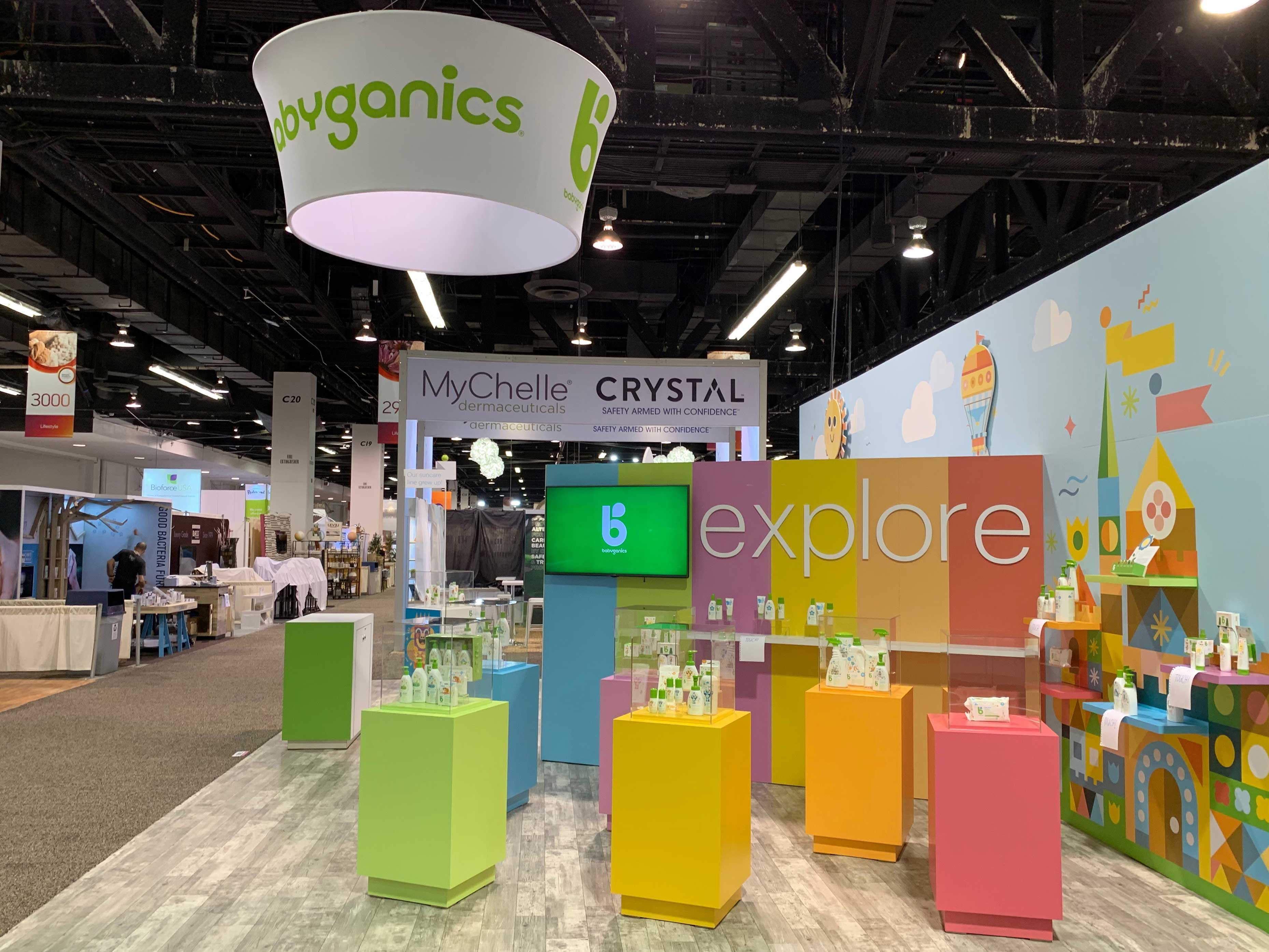 Trade show exhibit for Method cleaning products.
