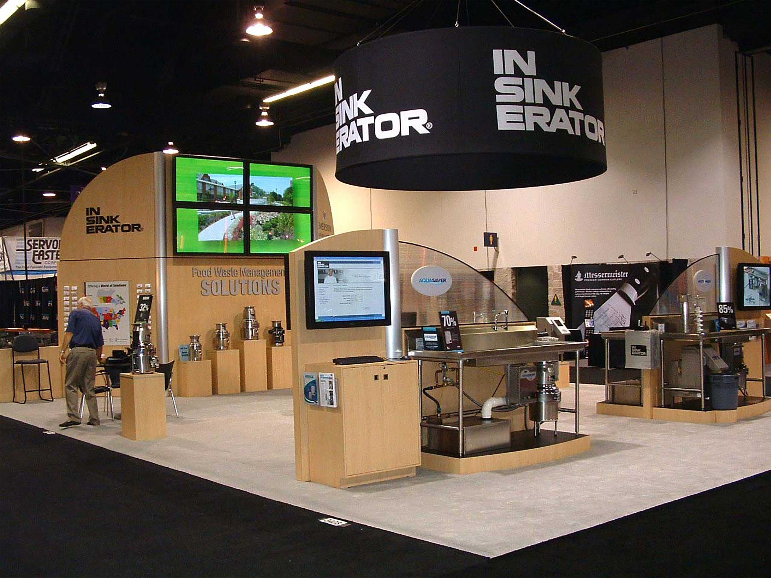 Tradeshow booth for InSinkErator.