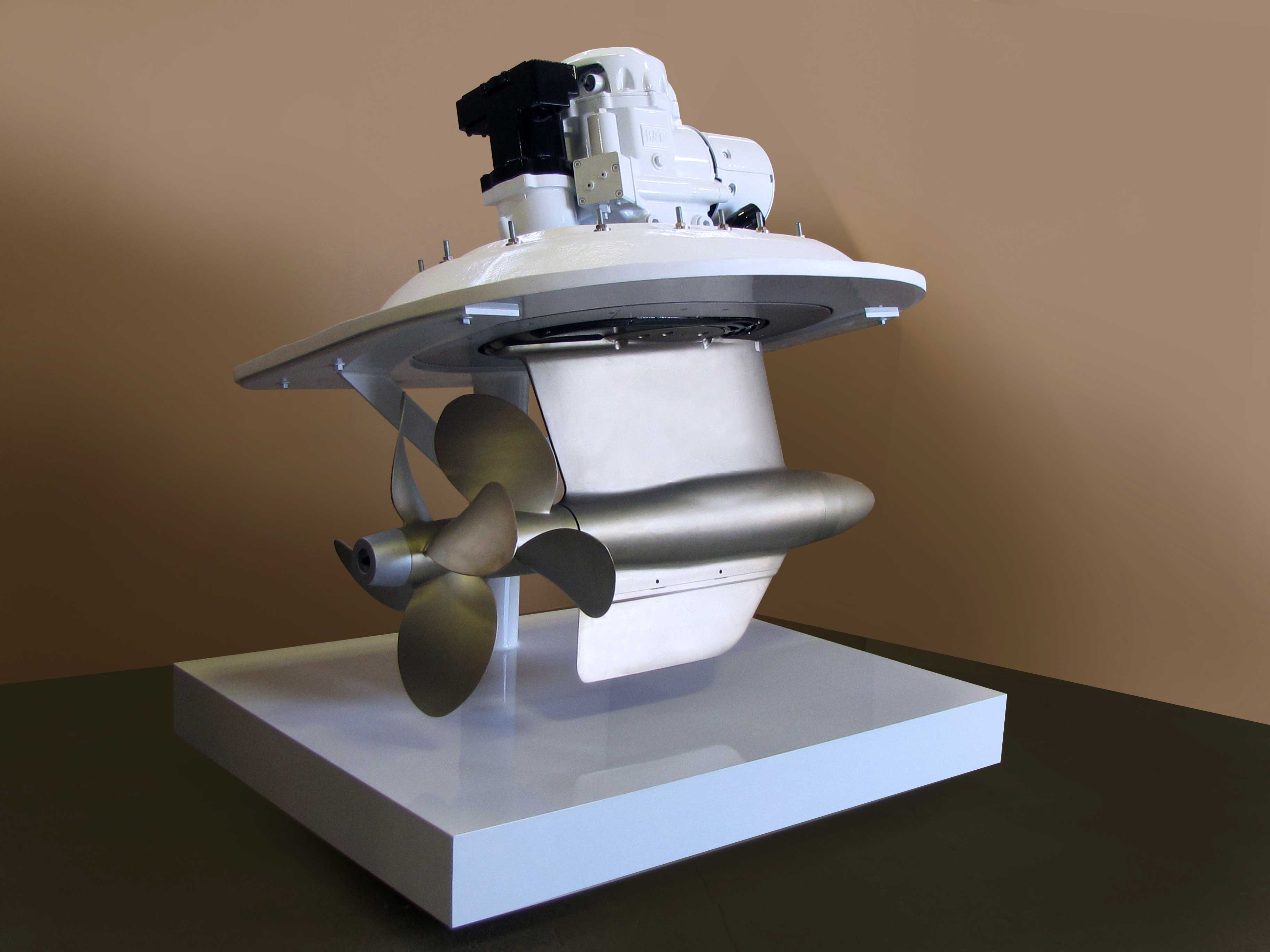 A boat motor prototype for TwinDisc.