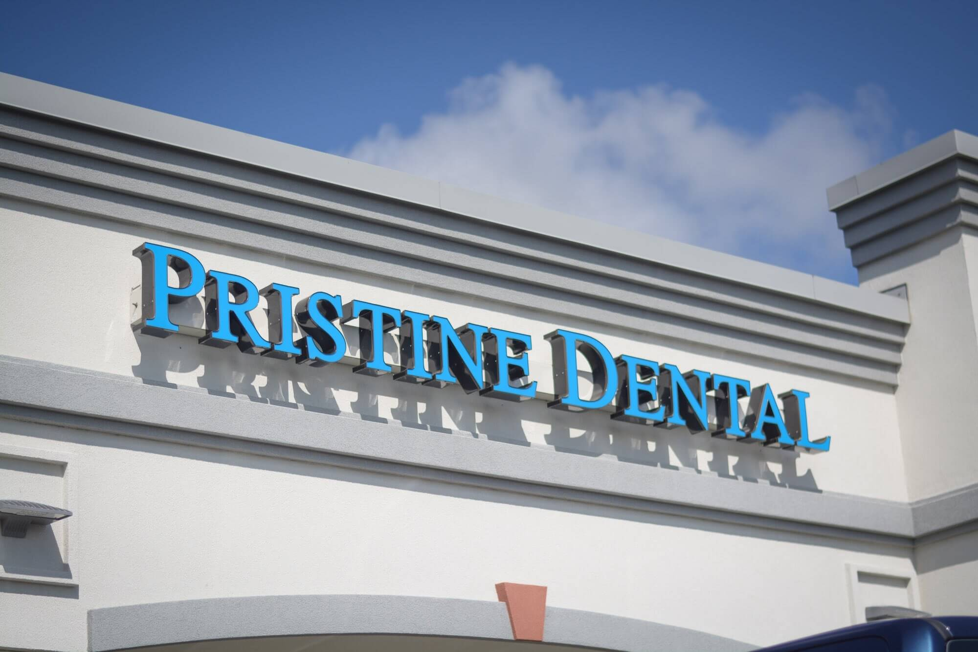 Pristine Dental Exterior Signage