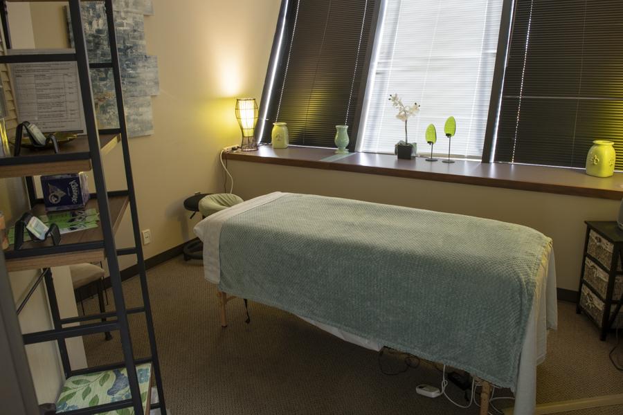 new leaf massage room