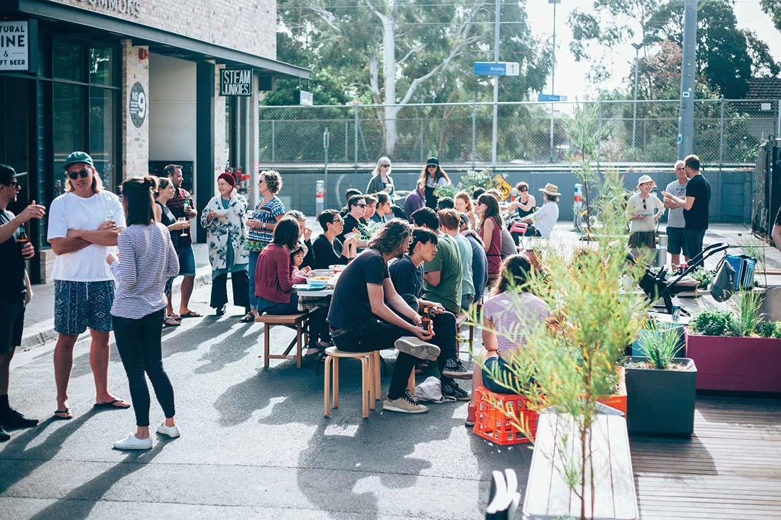 A neighbourhood get-together on Florence Street