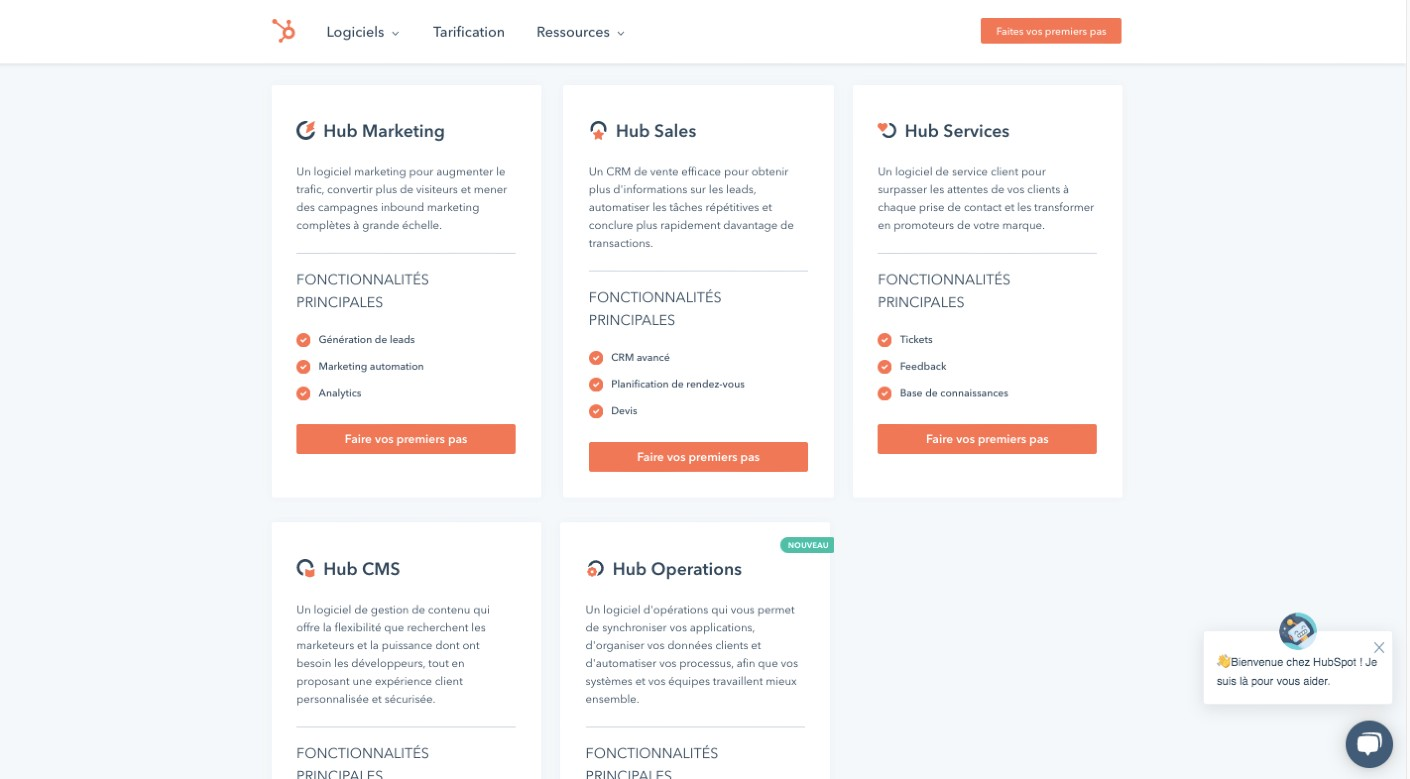 suite logicielle Hubspot