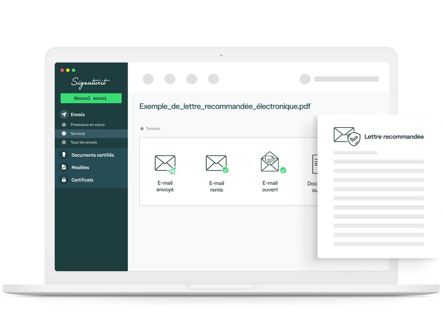 envoi recommandé électronique Signaturit