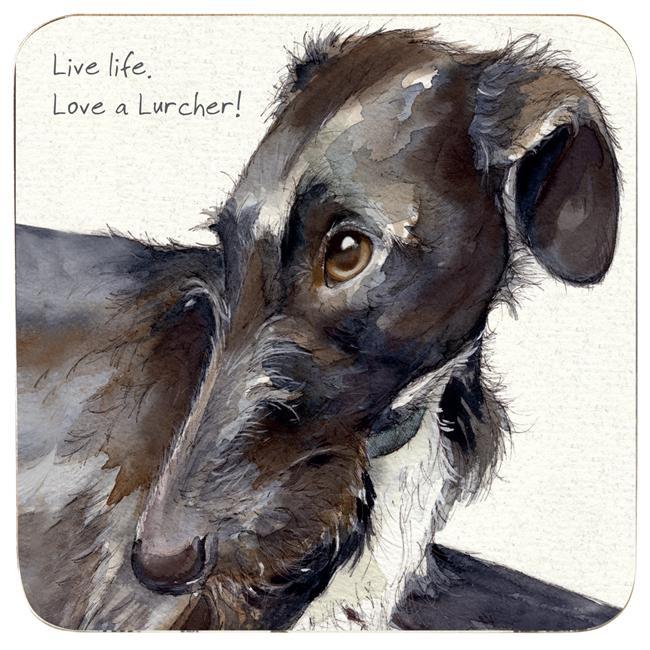Lurcher Rescue Coaster - Look of Love