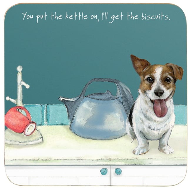 Jack Russell Coaster - Kettle On