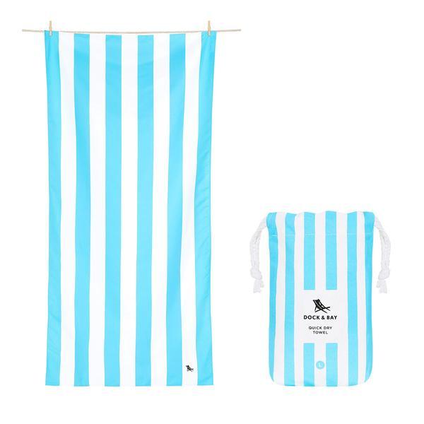 Quick Dry Towel Cabana - Tulum Blue
