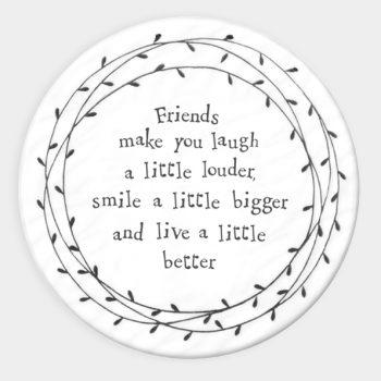 Leaf Round Coaster - Friends Make You Laugh
