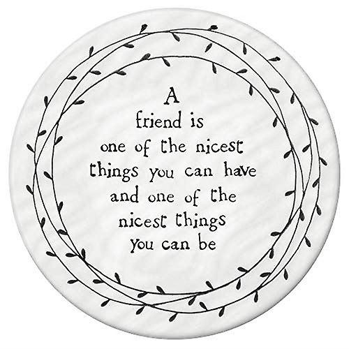 Leaf Circle Coaster - A Friend Is one of the Nicest Things