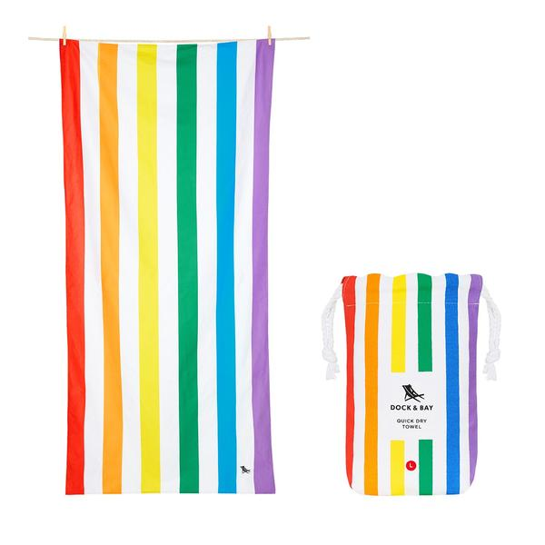 Quick Dry Towel Rainbow Skies