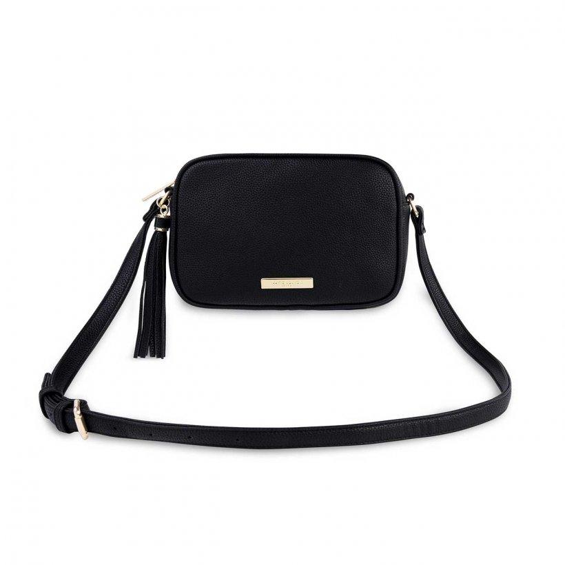 Sophia Tassel Crossbody Bag - Black