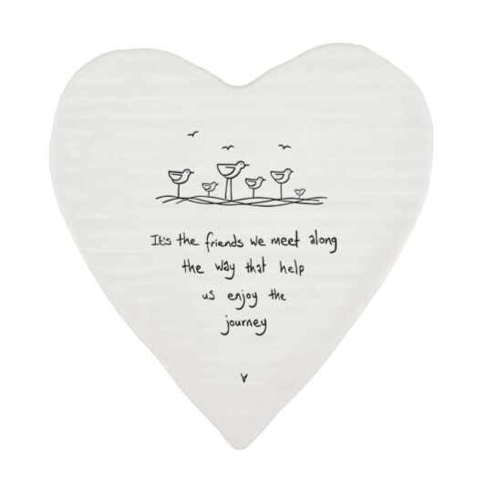 Wobbly Heart Coaster - Its the Friends We Meet