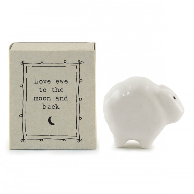Small Porcelain Matchbox - Love Ewe To the Moon