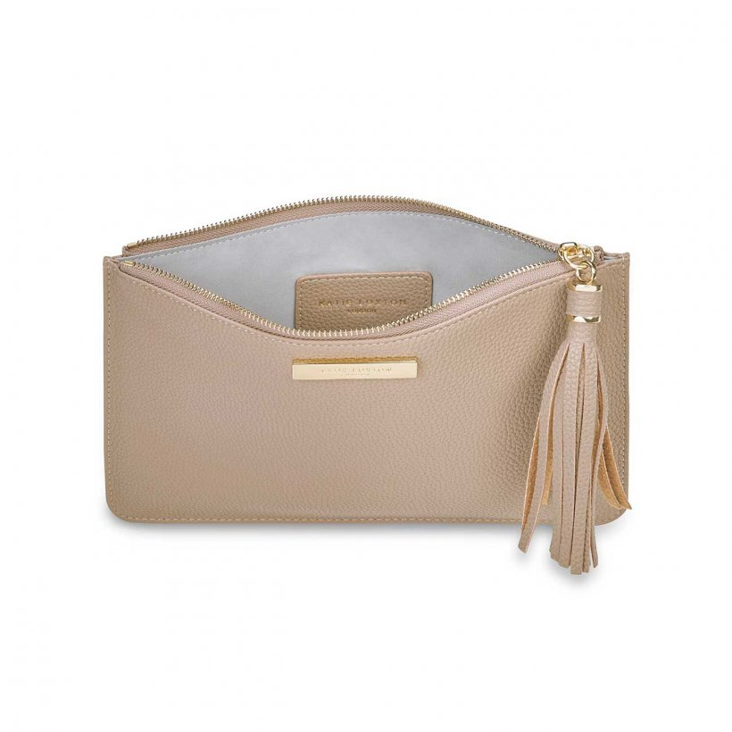 Tassel Pouch - Taupe