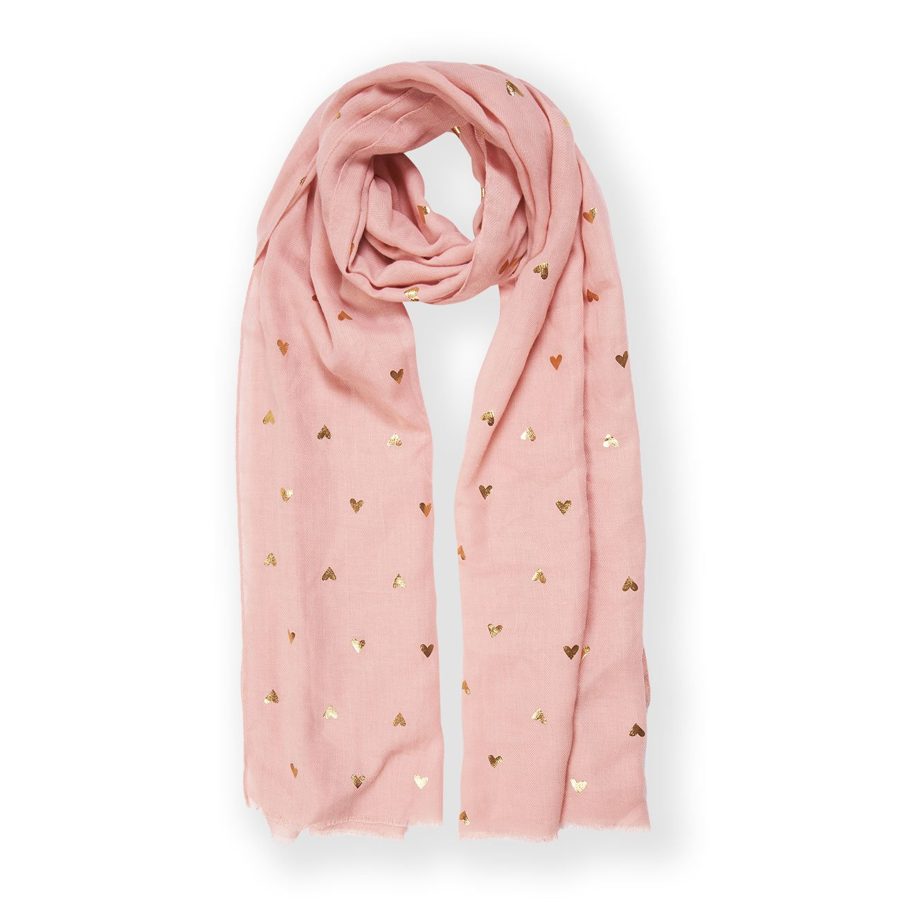 Heart Print Scarf - Pink