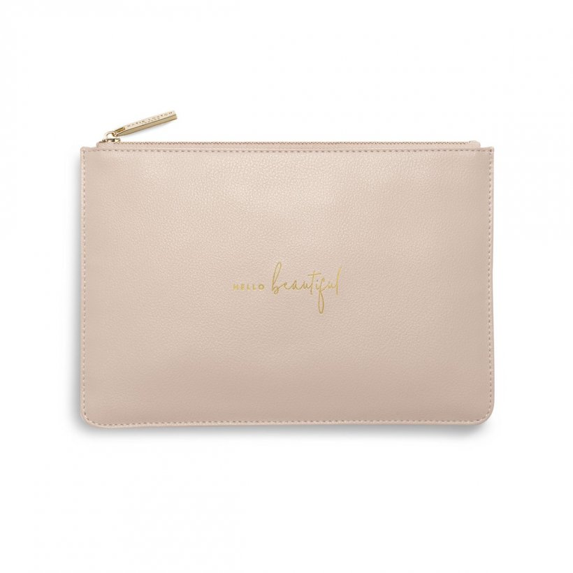 Perfect Pouch - Hello Beautiful - Dusty Pink