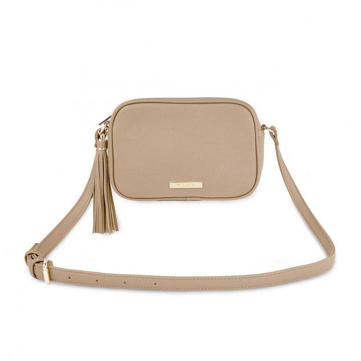 Sophia Tassel Crossbody Bag - Taupe