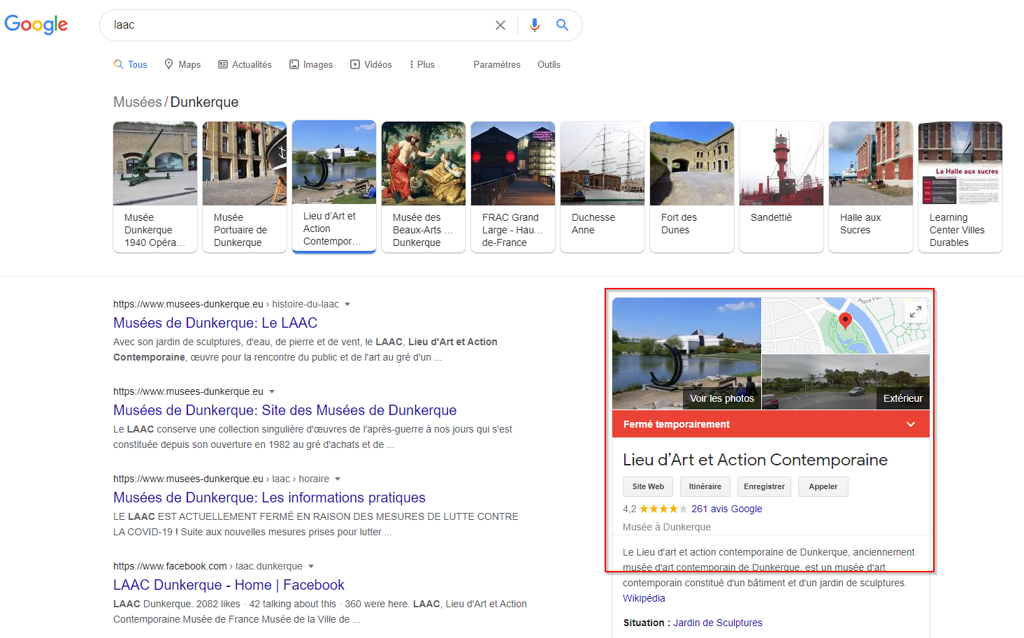 Google my business musee