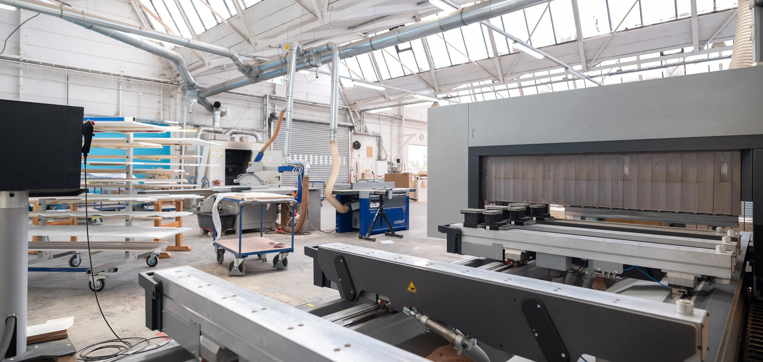 Ein Blick in unsere Werkstatt auf die CNC Fräse