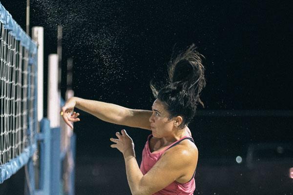 Athlete Spiking volleyball
