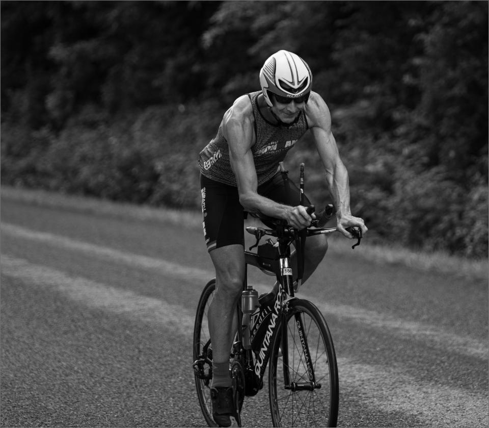 Athlete cycling through Shenandoah