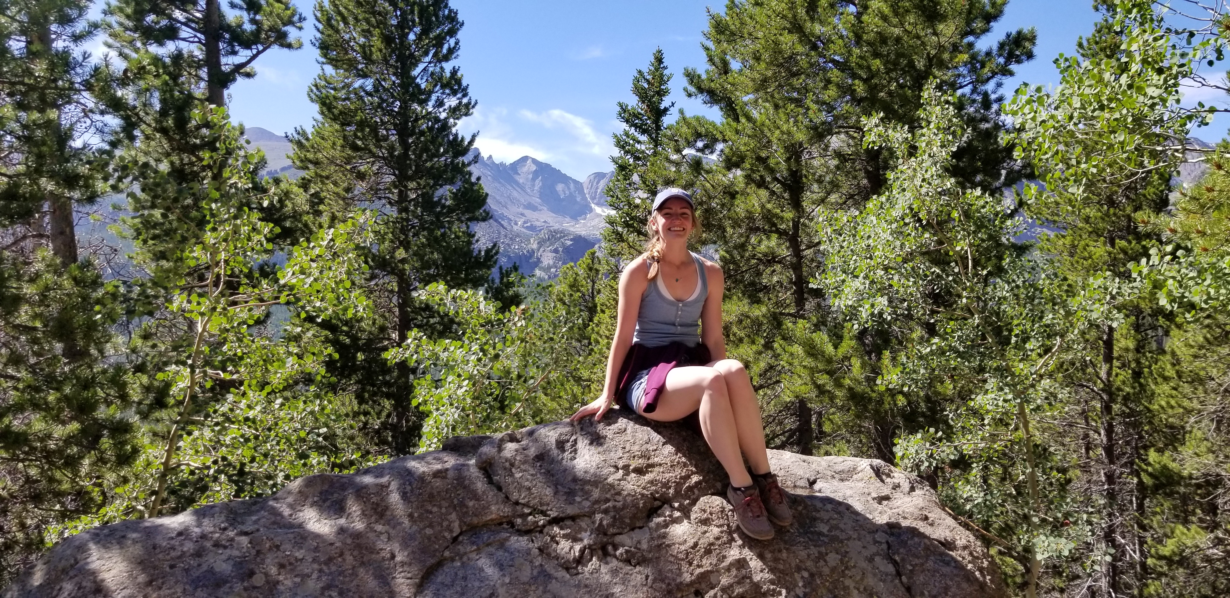 Julie at Rocky Mountain National Park