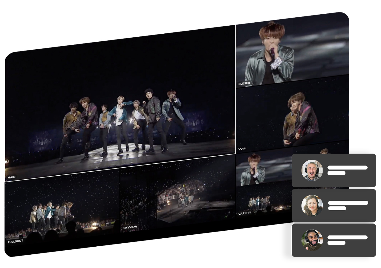 multi-view of bts show