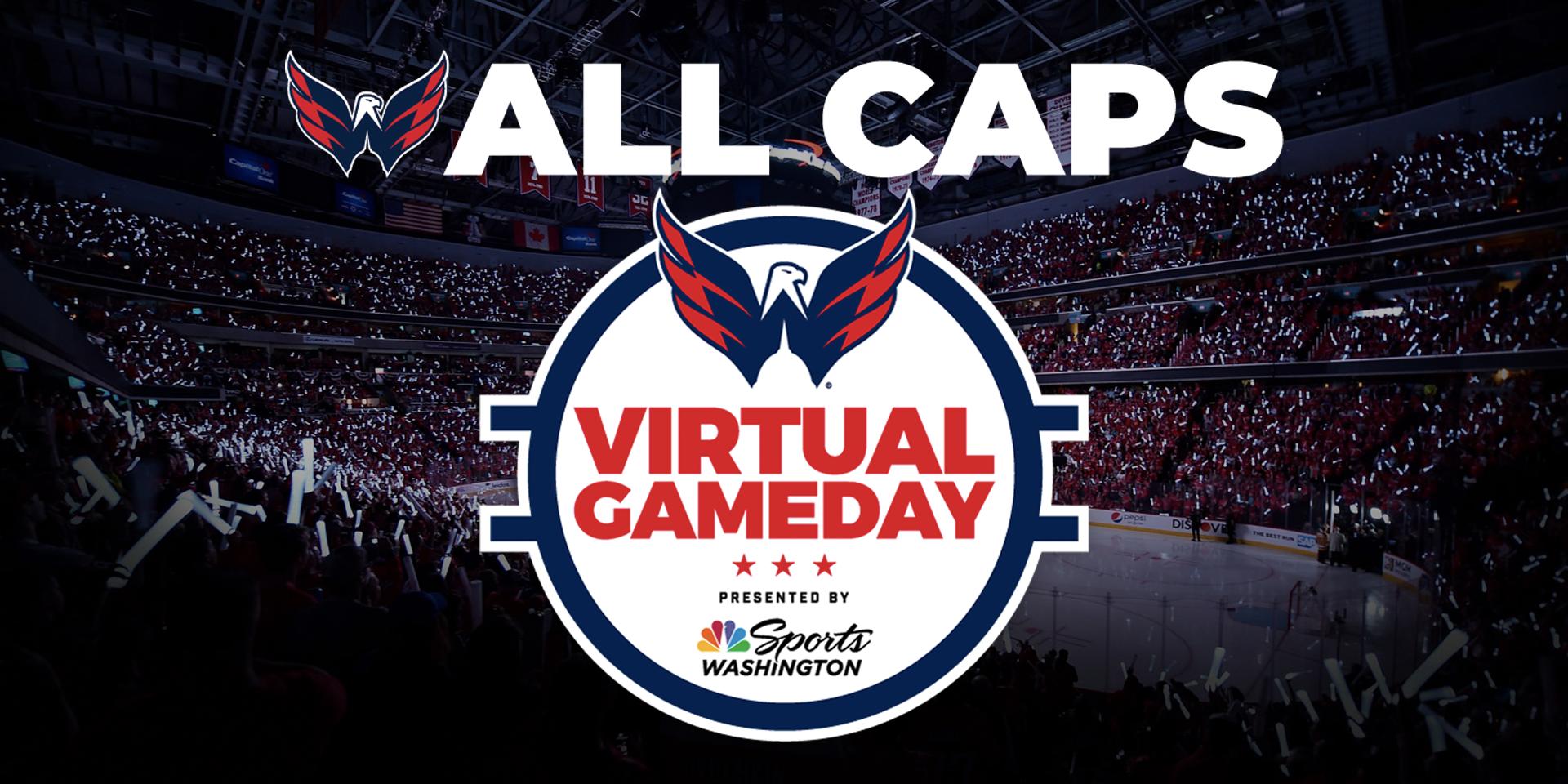 Washington Capitals Virtual Gameday header