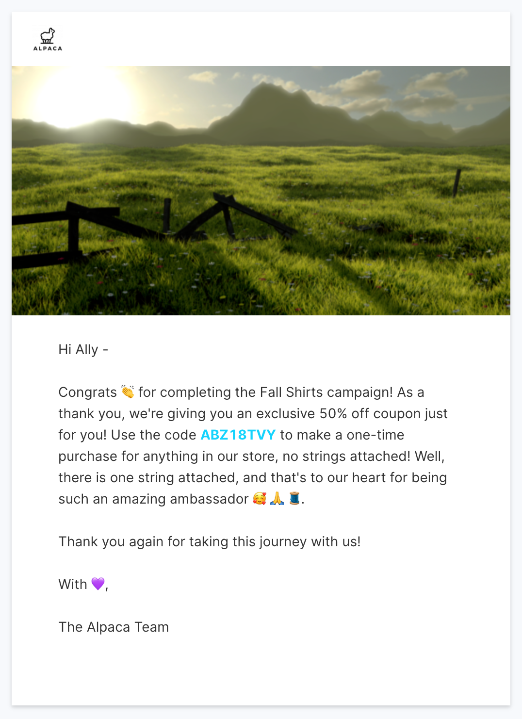 Reinforce your appreciation with instant rewards for ambassadors and inluencers