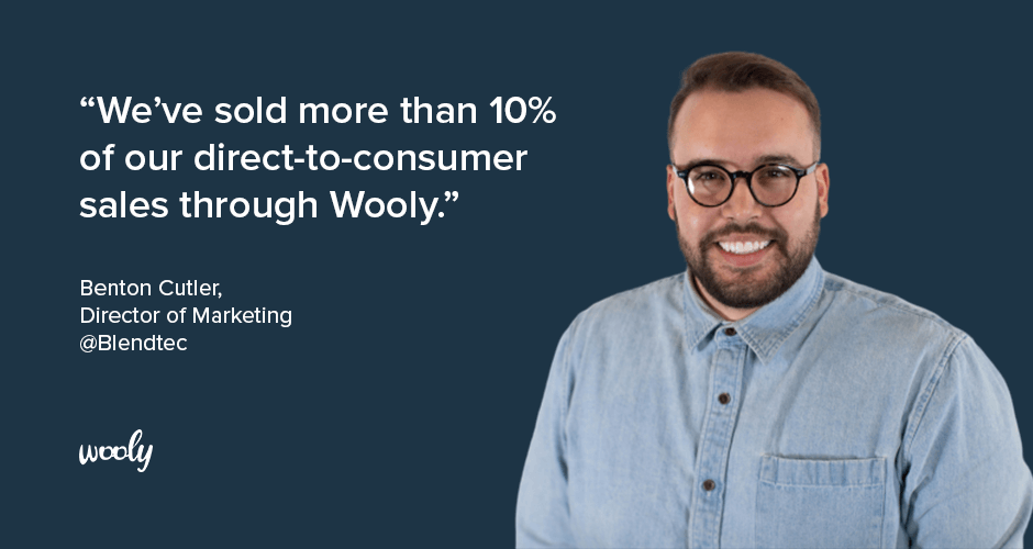 Blendtec sales more than 10% of all their ecommerce revenue with their ambassador programs run by Wooly