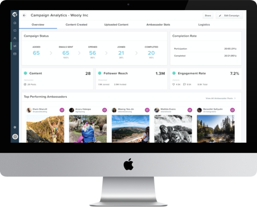 Wooly is an all-in-one ambassador platform