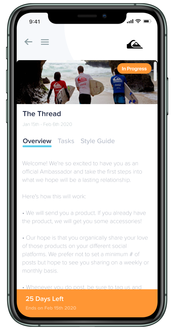 Wooly gives customers all the tools they need to have their own branded ambassador portal on smartphones