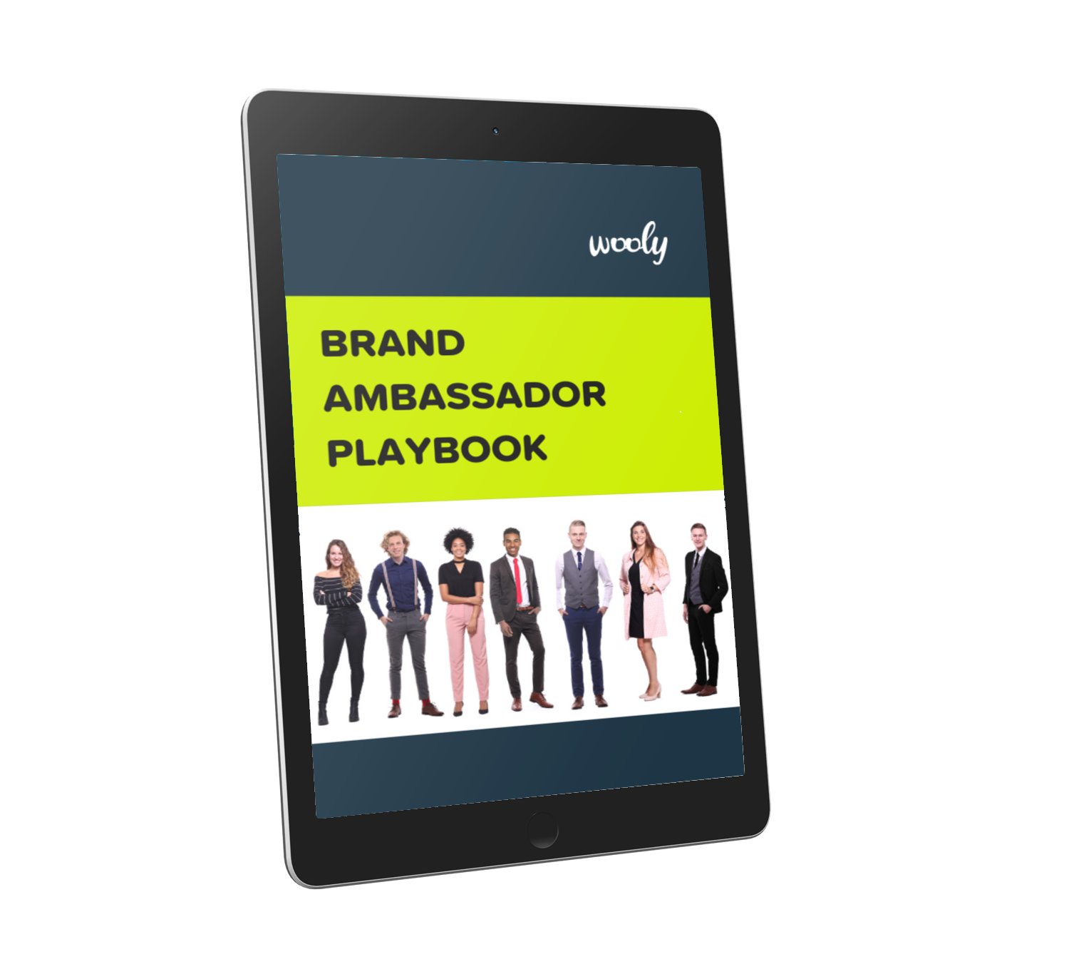 User generated content case study cover on tablet