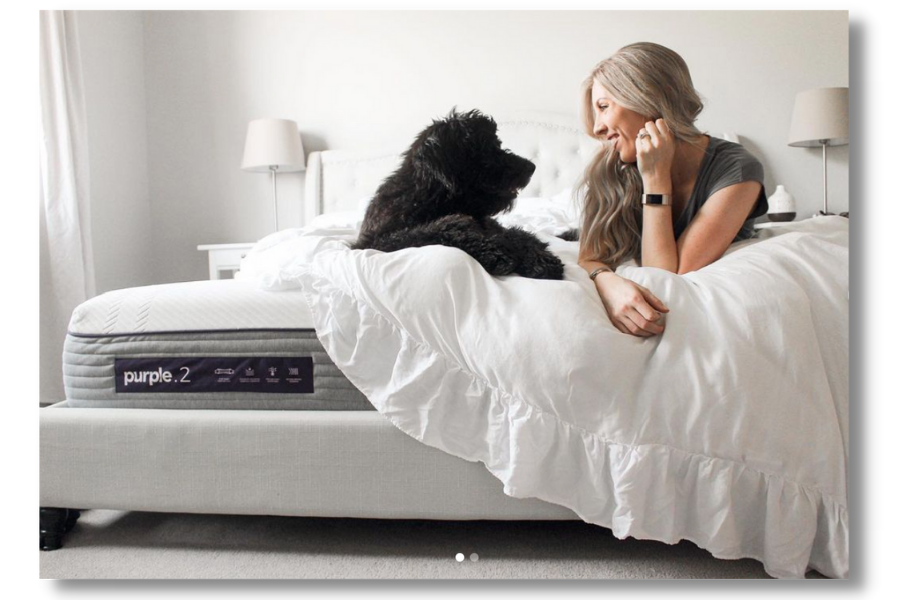Purple Mattress uses the Wooly Ambassador Platform to get user generated content
